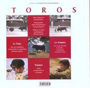 Toros ; Une Histoire Contemporaine De La Tauromachie - 4ème de couverture - Format classique