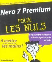 Nero 7 Prenium Pour Les Nuls - Intérieur - Format classique