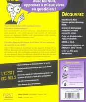 Nero 7 Prenium Pour Les Nuls - 4ème de couverture - Format classique