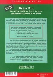 Poker Pro - 4ème de couverture - Format classique
