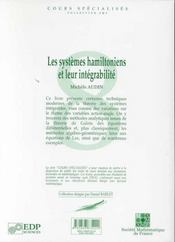 Systemes Hamiltoniens Et Leur Integrabilite - 4ème de couverture - Format classique