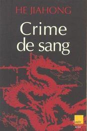 Crime De Sang - Intérieur - Format classique