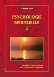 La Psychologie Spirituelle T.2 - Couverture - Format classique