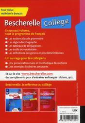 BESCHERELLE ; collège - 4ème de couverture - Format classique