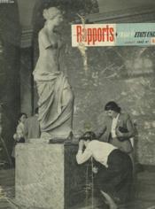 Rapports France - Etats-Unis - Couverture - Format classique