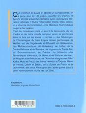 Histoire De La Litterature Allemande - 4ème de couverture - Format classique