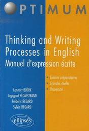 Thinking and writing processes in english ; manuel d'expression écrite - Intérieur - Format classique