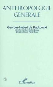 Anthropologie Generale - Couverture - Format classique