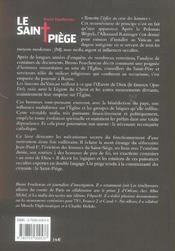 Le saint piege - 4ème de couverture - Format classique