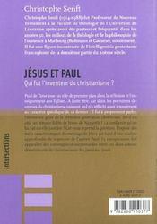 Jesus Et Paul - 4ème de couverture - Format classique