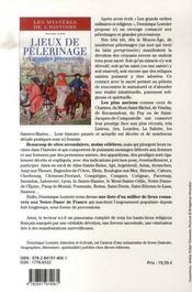 Les mystères de l'histoire ; lieux de pèlerinage et grandes processions - 4ème de couverture - Format classique