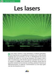 Petit Guide T.161 ; Les Lasers - Couverture - Format classique