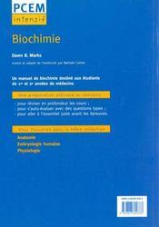 Biochimie pcem intensif pour le concours - 4ème de couverture - Format classique
