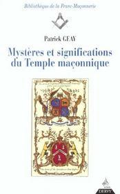 Mysteres et significations du temple maconnique - Intérieur - Format classique