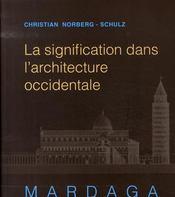 La signification dans l'architecture occidentale - Intérieur - Format classique