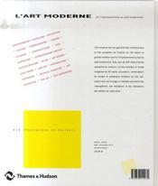 L'Art moderne - 4ème de couverture - Format classique