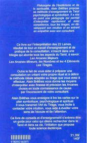 Interpretation Des Arcanes Majeurs - 4ème de couverture - Format classique