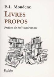 Livres Propos - Couverture - Format classique
