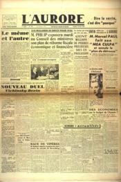 Aurore (L') N°454 du 02/02/1946 - Couverture - Format classique