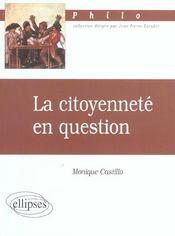 La Citoyennete En Question - Intérieur - Format classique