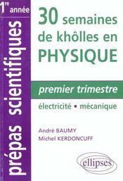 Premier Trimestre Electricite Mecanique Prepas Scientifiques 1re Annee - Intérieur - Format classique