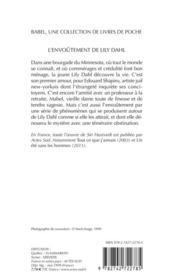 L'Envoutement De Lily Dahl Babel 380 - 4ème de couverture - Format classique