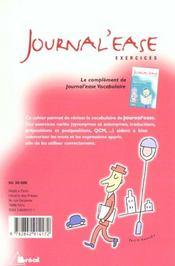 Journal'Ease - 4ème de couverture - Format classique