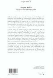 Vierges Noires Dervy - 4ème de couverture - Format classique