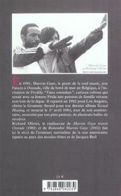 Ami Ostendais De Marvin Gaye (L') - 4ème de couverture - Format classique