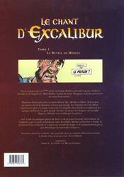 Le chant d'Excalibur t.1 ; le réveil de Merlin - 4ème de couverture - Format classique