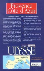 Provence Cote D Azur 4e Edition - 4ème de couverture - Format classique