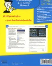 Windows 8 pas à pas pour les nuls - 4ème de couverture - Format classique