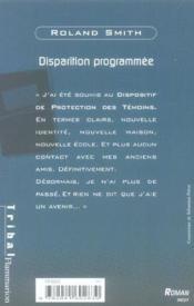 Disparition Programmee - Couverture - Format classique