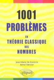 1001 Problemes En Theorie Classique Des Nombres - Intérieur - Format classique