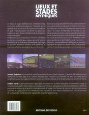 Lieux et stades mythiques ; les stades, les circuits, les terrains, les courts - 4ème de couverture - Format classique