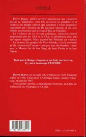 Chili 1967-1973 ; Temoignage D'Un Pretre-Ouvrier Ou Le Noir Et Le Rouge - 4ème de couverture - Format classique