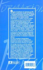 La Dysfonction Erectile - 4ème de couverture - Format classique