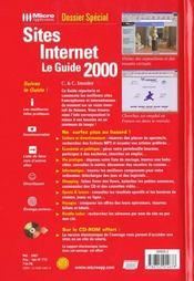 Dossiers Special Sites Internet Le Guide 2000 - 4ème de couverture - Format classique