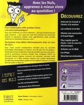 Internet pour les nuls ; edition explorer 7 - 4ème de couverture - Format classique