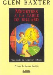 Meurtre A La Table De Billard - Intérieur - Format classique