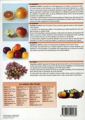 Les fruits et leurs bienfaits - 4ème de couverture - Format classique