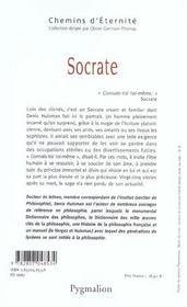 Socrate - 4ème de couverture - Format classique