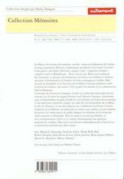 Memoires 62 ; mai-juin 1940 ; defaite francaise, victoire allemande ; une histoire a reecrire - 4ème de couverture - Format classique
