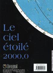 Le ciel étoilé 2000,0 carte - 4ème de couverture - Format classique