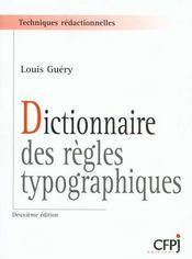 Dictionnaire des regles typographiques - Intérieur - Format classique