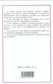 Le Spiritisme Face A La Science - 4ème de couverture - Format classique