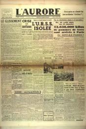 Aurore (L') N°456 du 05/02/1946 - Couverture - Format classique