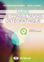 Guide de consultation ostéopathique - Couverture - Format classique