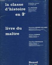 La Classe D'Histoire En 3° - Couverture - Format classique