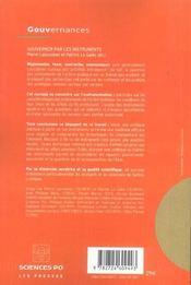 Gouverner par les instruments - 4ème de couverture - Format classique